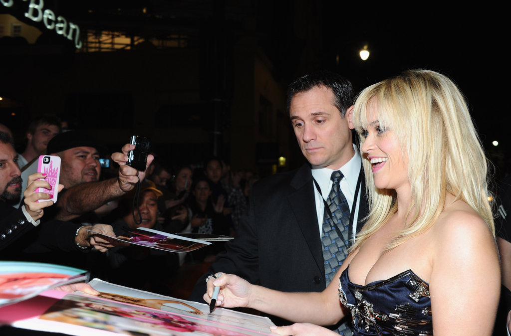 Reese Witherspoon posed at the LA premiere of This Means War.
