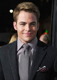 Chris Pine posed in a suit at the LA premiere of This Means War.