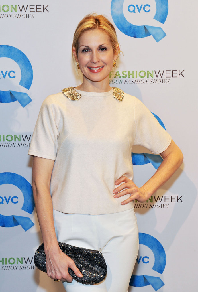 Kelly Rutherford wearing all white.