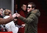 Jake Gyllenhaal was friendly to fans in Berlin.