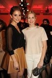 Maria Menounos and Kelly Rutherford at QVC's runway show.  worldredeye.com
