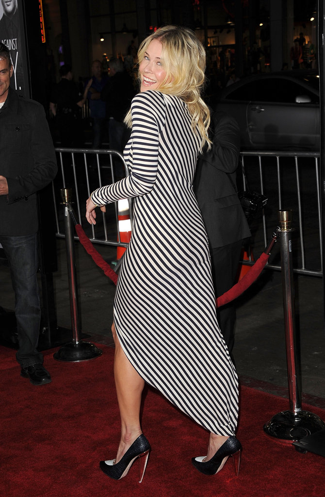 Chelsea Handler wore striped to the LA premiere of This Means War.