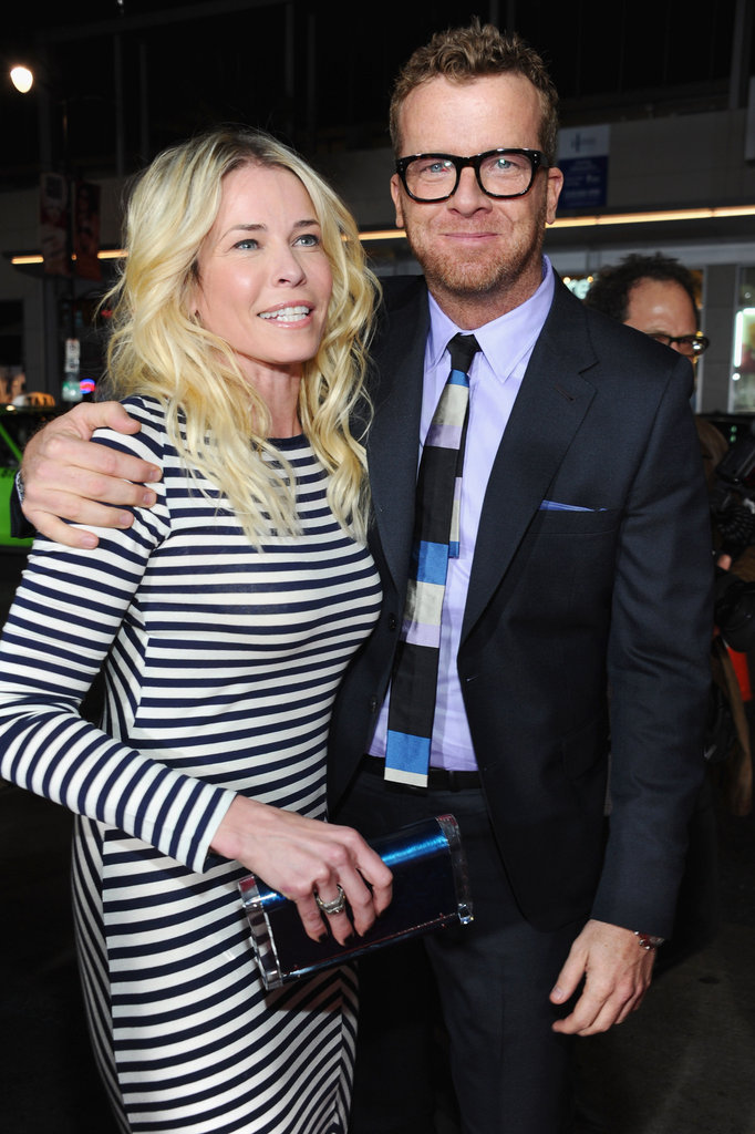 McG and Chelsea Handler caught up at the LA premiere of This Means War.