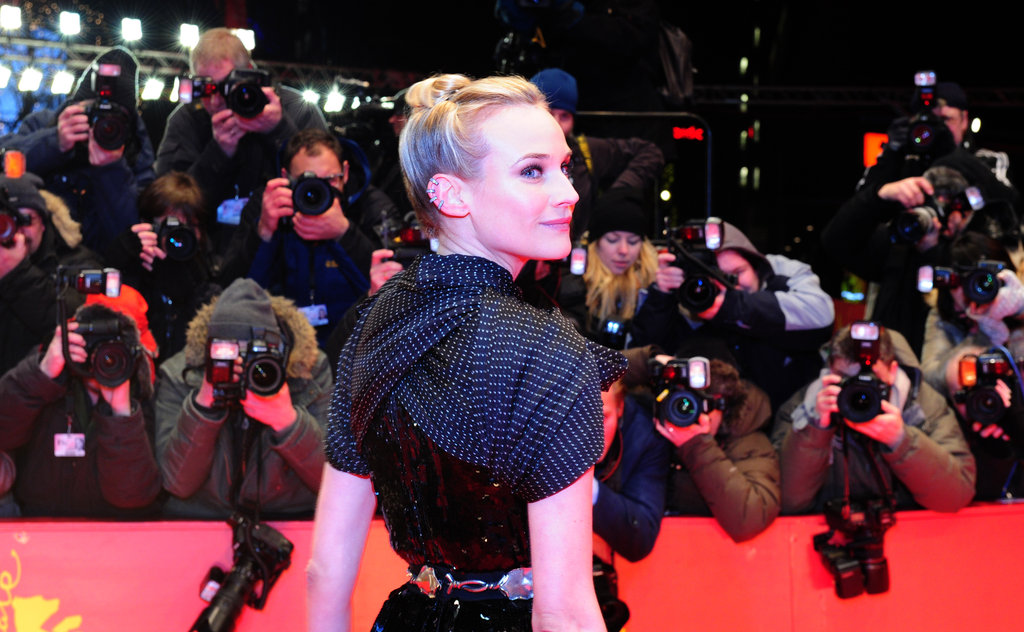 Diane Kruger dazzled under the bright lights.