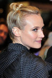 Diane Kruger wore her hair up for the special occasion.
