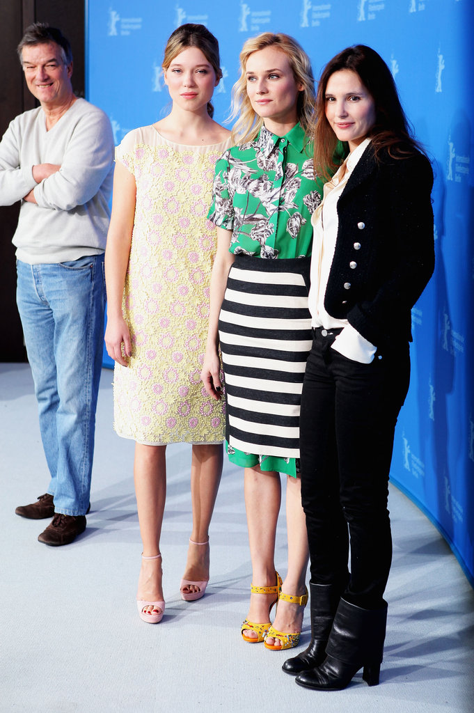 Virginie Ledoyen, Diane Kruger and Léa Seydoux did press for Farewell, My Queen.