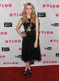 A cool Elie Saab dress was fit for a Nylon party in May 2011.