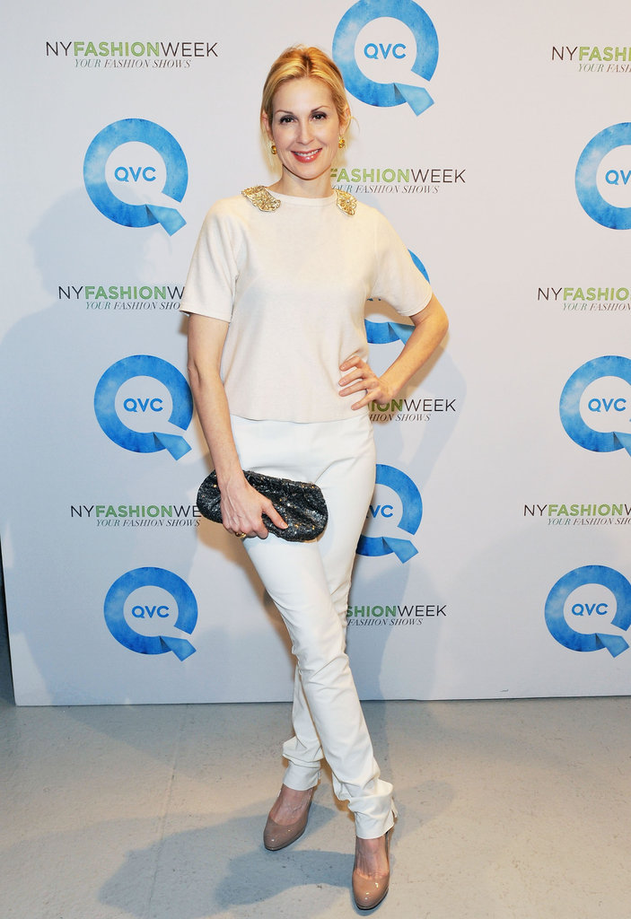 Gossip Girl's Kelly Rutherford hit the QVC runway in chic Winter-white separates.