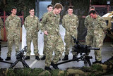 Prince Harry met with fellow servicemen and women.