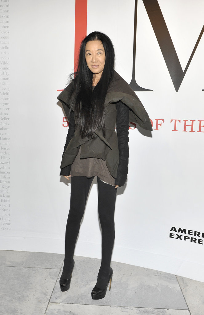 Vera Wang at CFDA's FIT exhibition.