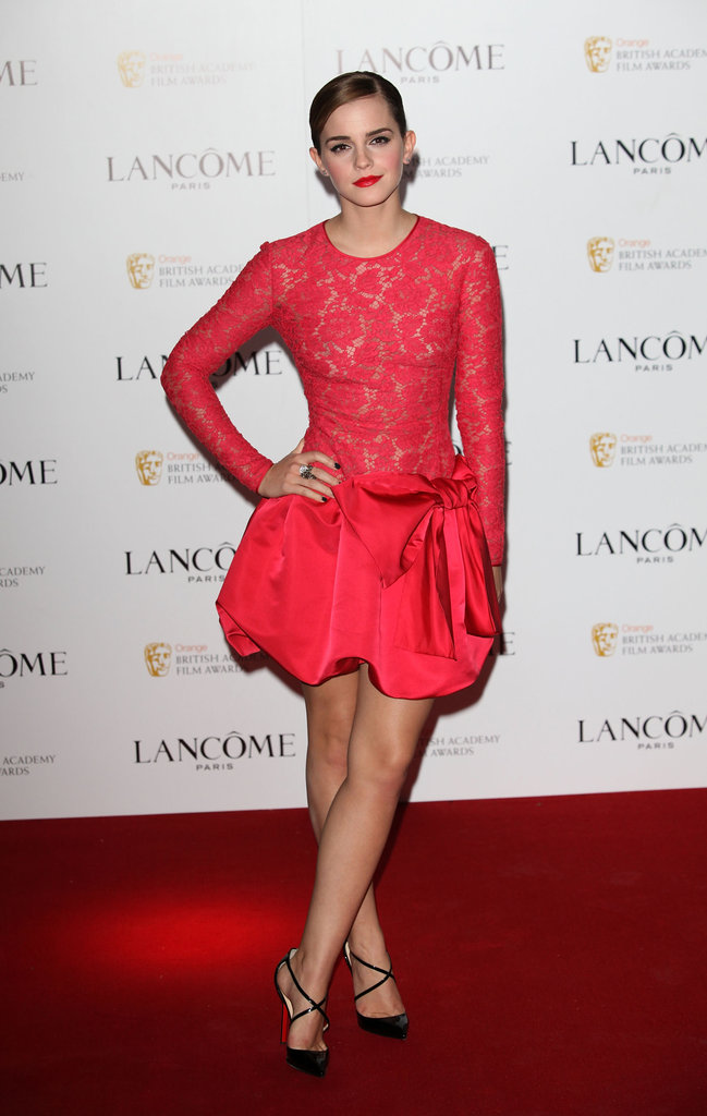 Emma Watson celebrated this weekend's BAFTAs a few days early.