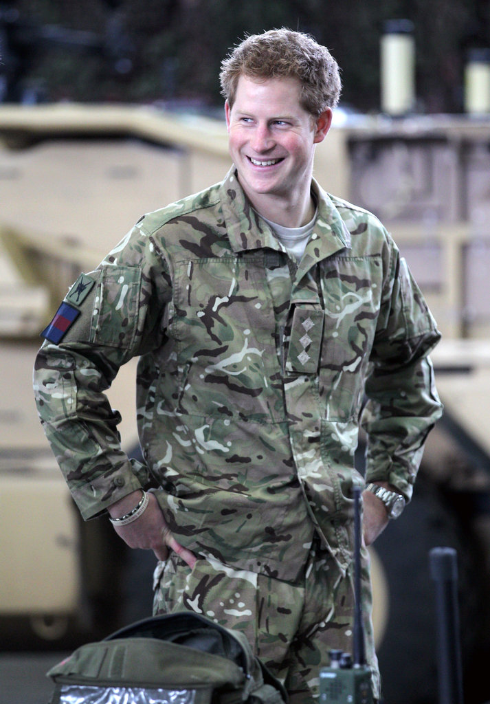 Prince Harry visited a RAF base.