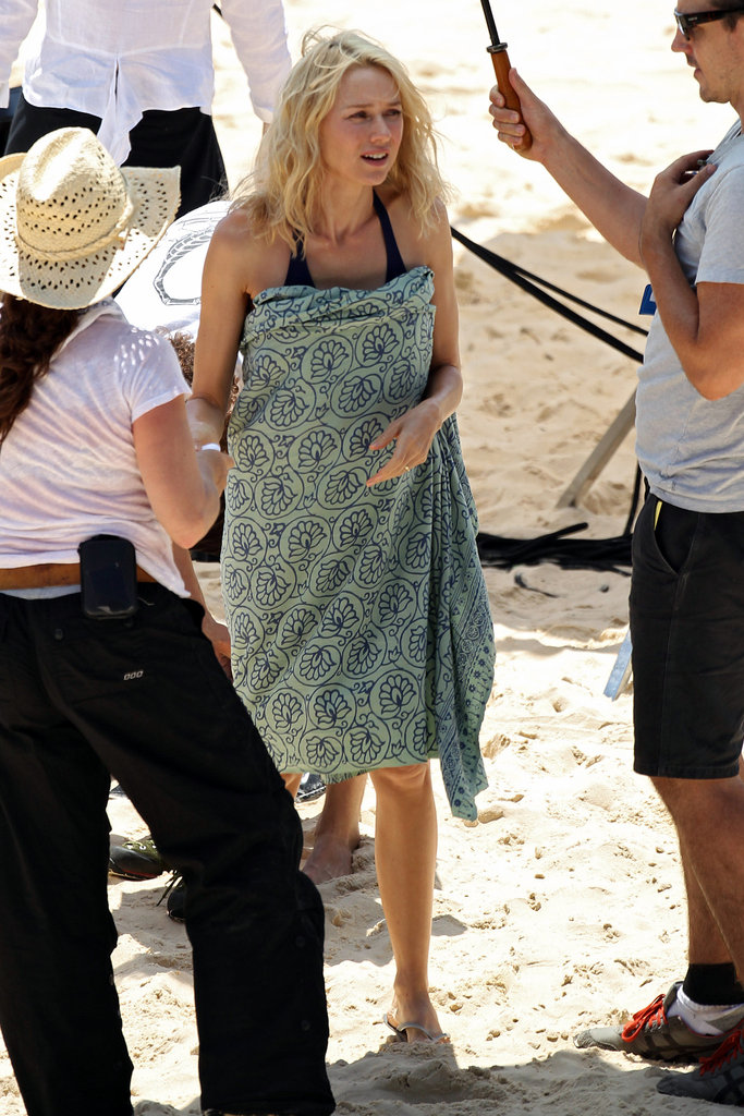 Naomi Watts on set in Sydney.