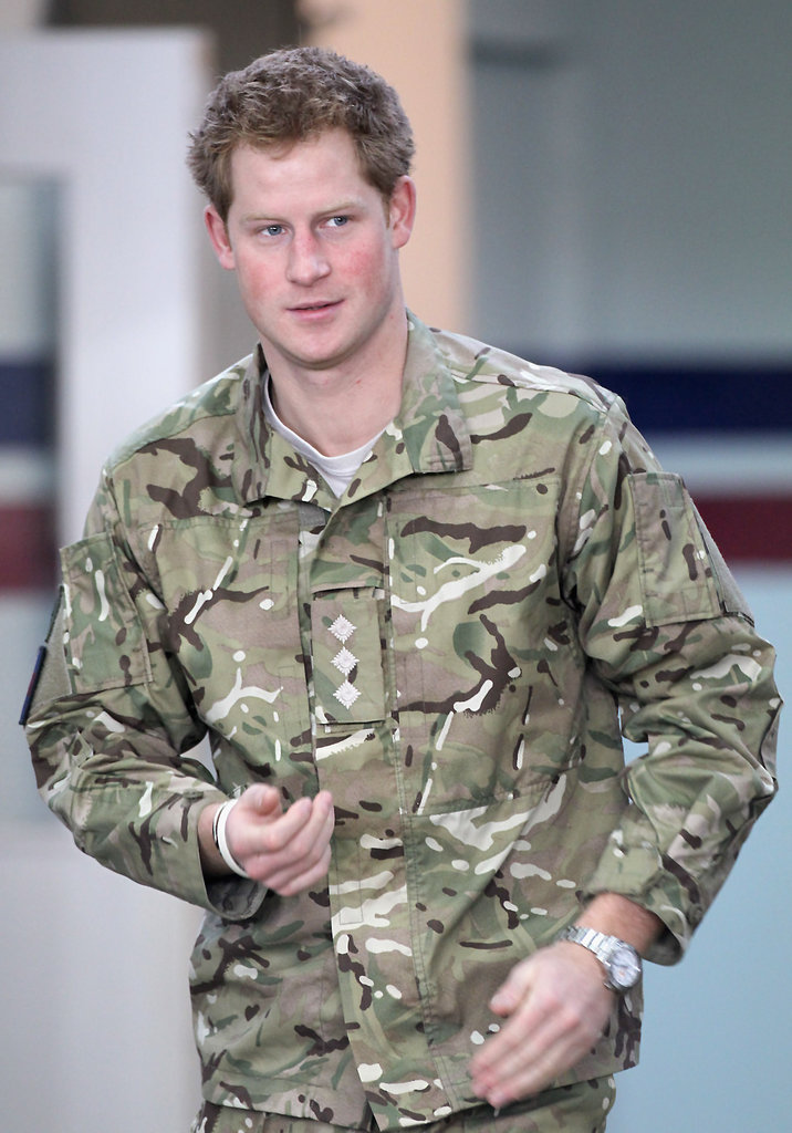 Prince Harry was decked out in his Army gear.