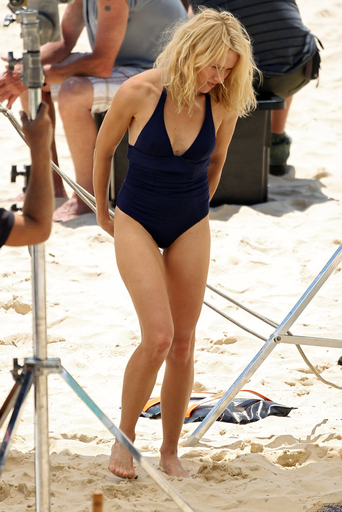 Naomi Watts in a bathing suit.