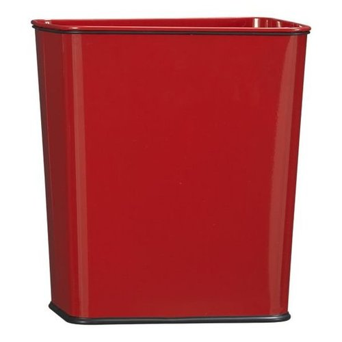 Trash Can 7-Gallon Red with Bag Band in Office Accessories