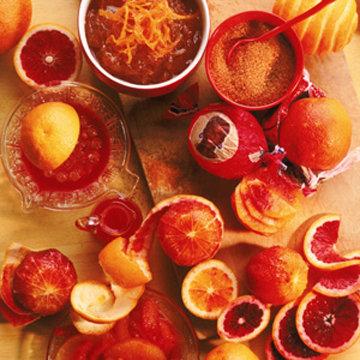 Blood Orange Champagne Sparkler