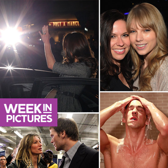 Gisele Comforts Tom After Super Bowl Loss, Michael Phelps Strips Down, and Taylor Preps For Grammys