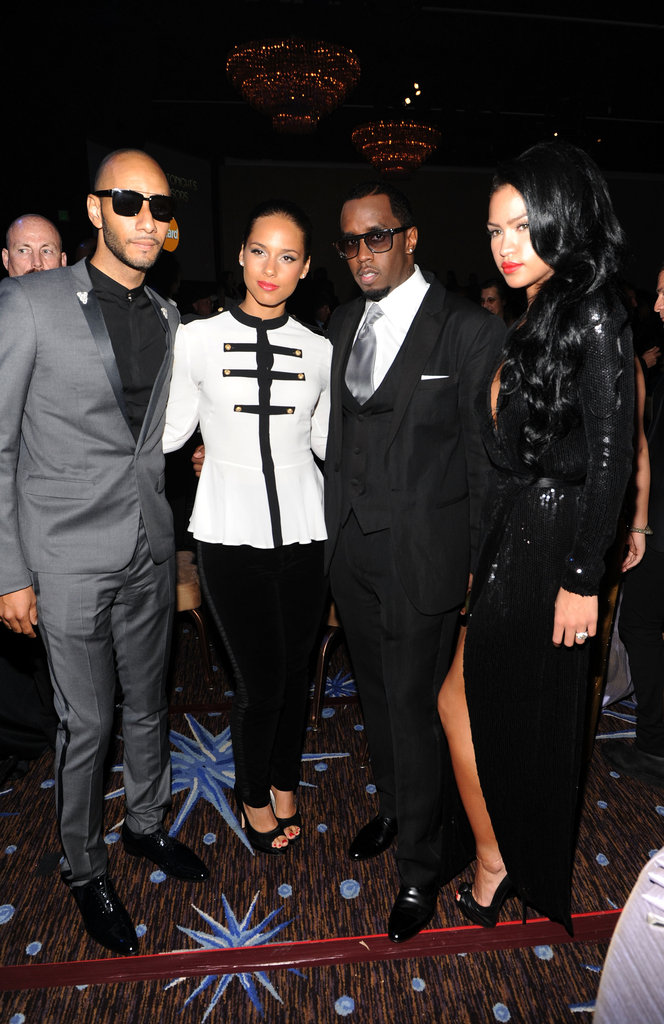 Britney, Diddy, Kim, Miranda, and More Honor Whitney Houston at Clive Davis's Pre-Grammy Party