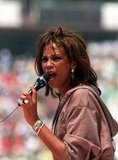She took the mic before the 1994 World Cup Final in Pasadena.