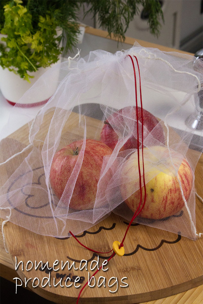 homemade produce bags