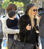 Rachel Zoe and husband Rodger Berman took their son Skyler out for lunch at the Newsroom Cafe in LA.