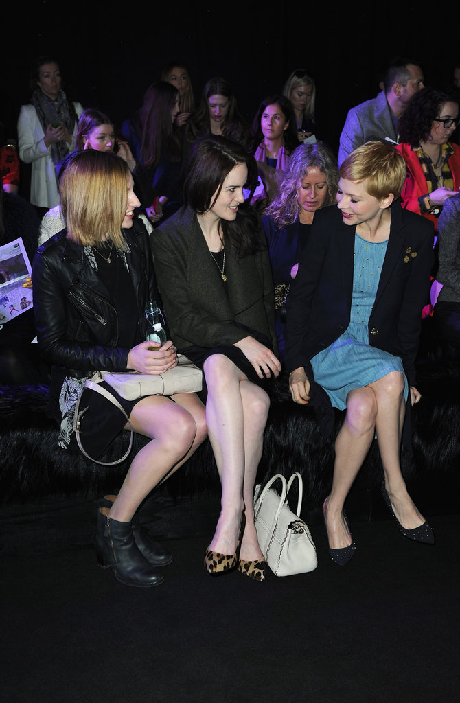 Laura Carmichael, Michelle Dockery, and Michelle Williams chatted.
