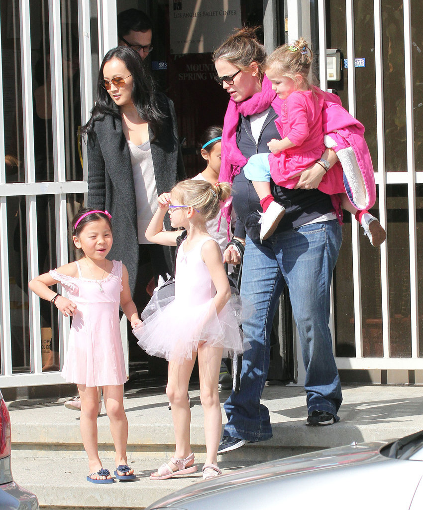 Seraphina got a lift from Jennifer Garner.