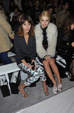 Alexa Chung and Pixie Geldof at Henry Holland