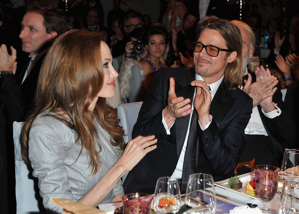 Angelina Jolie was celebrated for her film at the Cinema for Peace gala, which she attended with Brad Pitt.