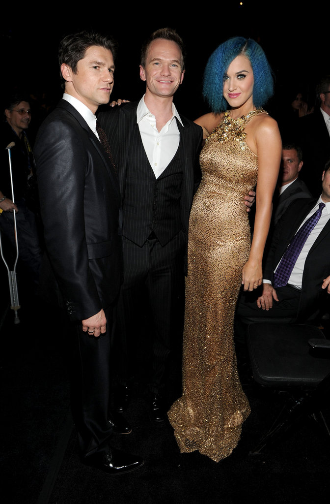 Katy Perry struck a pose with Neil Patrick Harris and David Burtka.