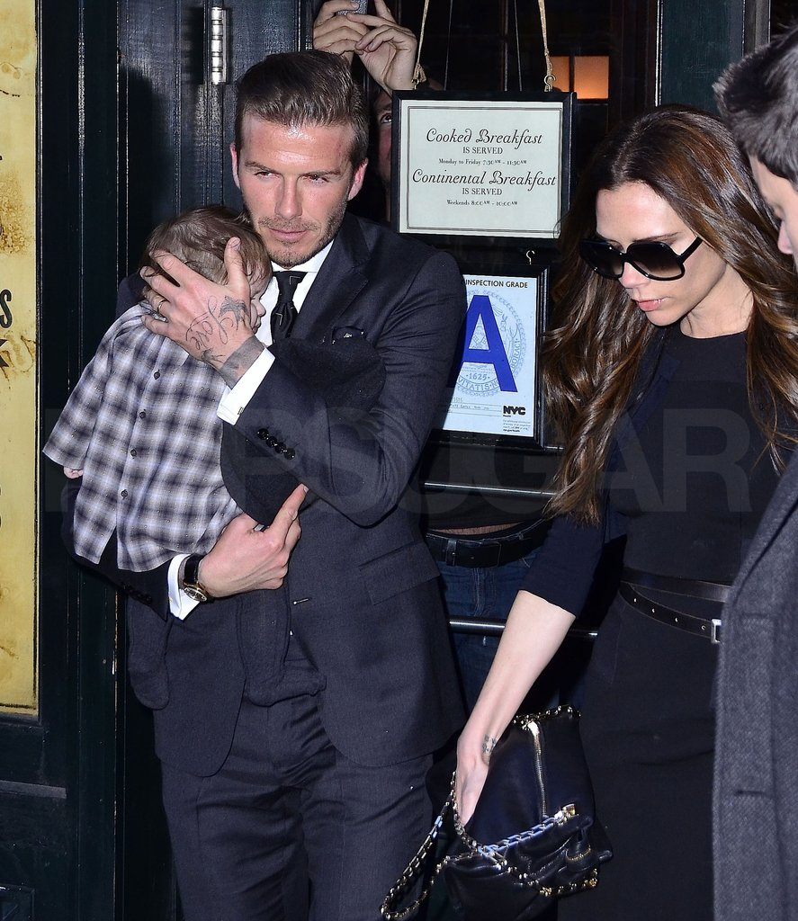 David Beckham and Victoria Beckham spent time in NYC with Harper Beckham.