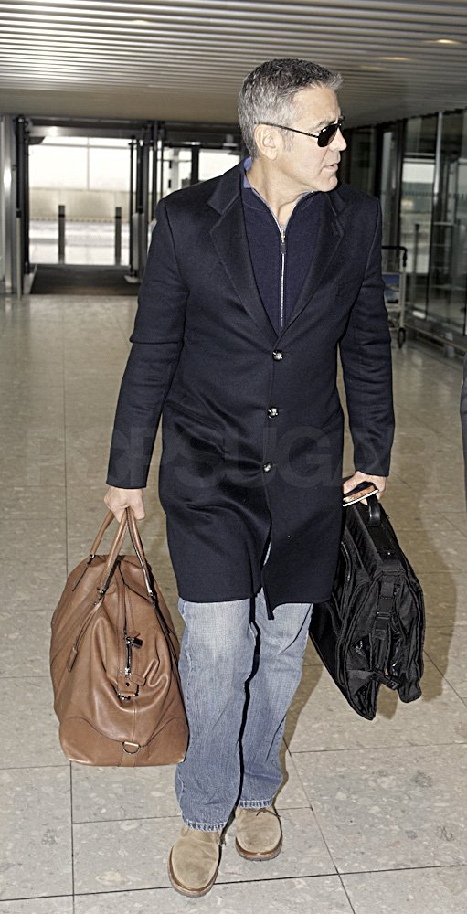 George Clooney was ready to leave London.