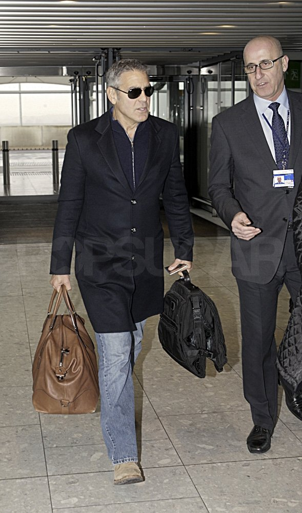 George Clooney took off after the BAFTAs.
