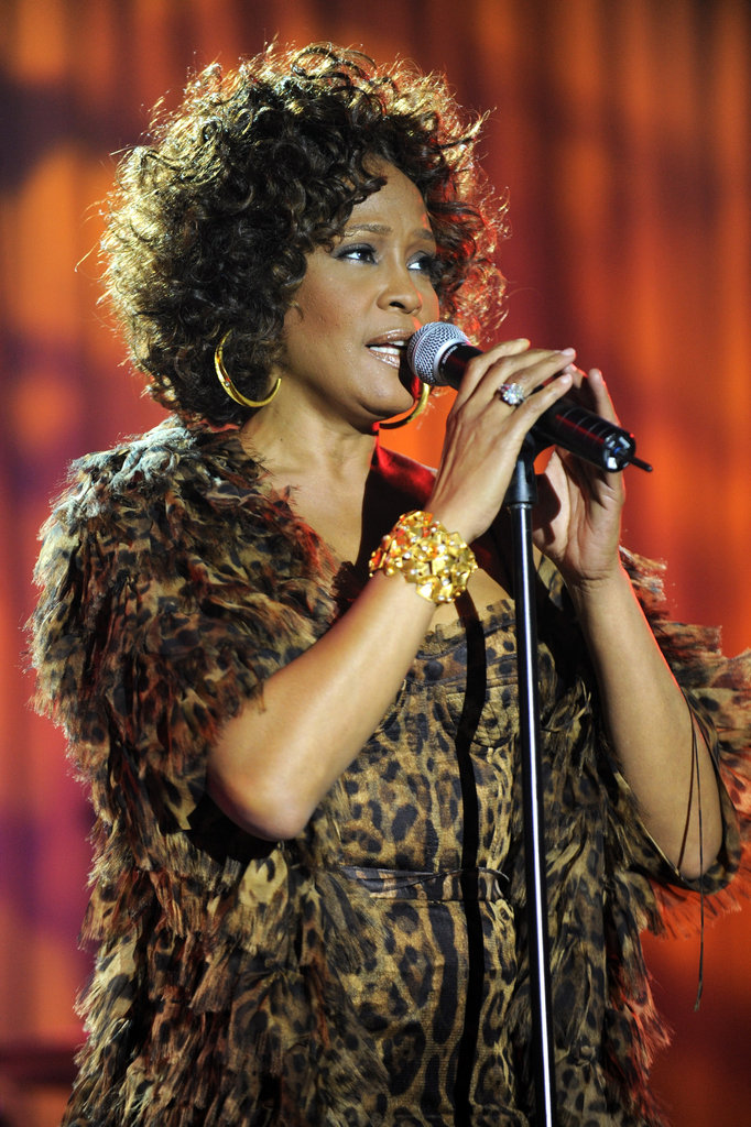 Whitney sang at the Grammys in 2009.