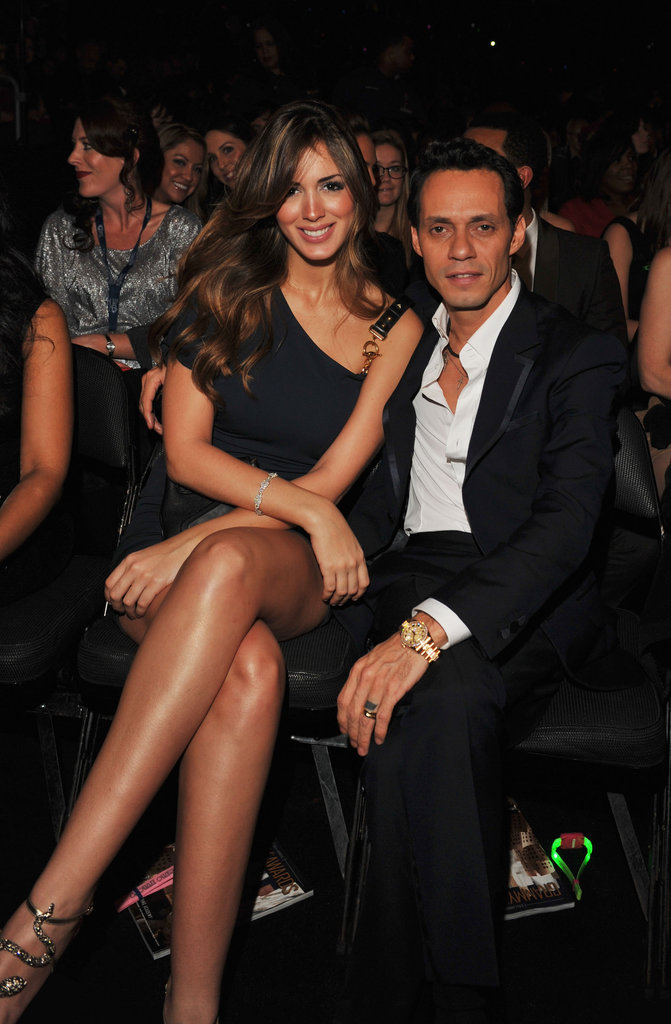 Marc Anthony stayed close to new girlfriend Shannon de Lima.