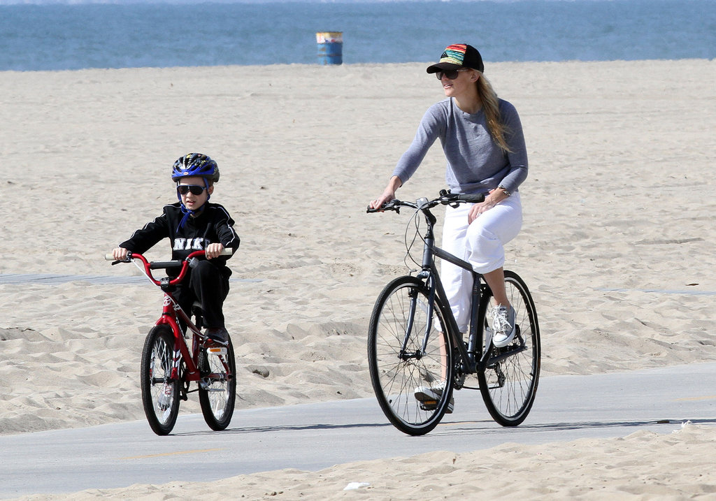 Kate Hudson and Ryder Take Their Bikes For a Spin on the Beach