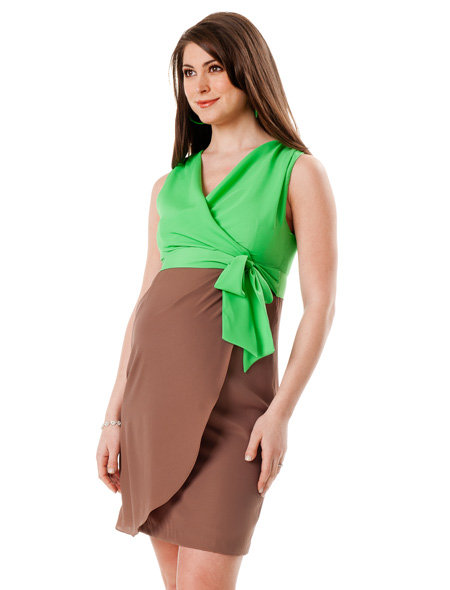 Maternity Interpretation: Suzi Chin Sleeveless Colorblock Dress ($158)
