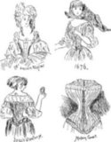"Corsets were called ""stays"" until 1829, when French designer Jean-Julien Josselin patented the word for his new undergarment: a one-piece that could be fastened and unfastened without assistance."