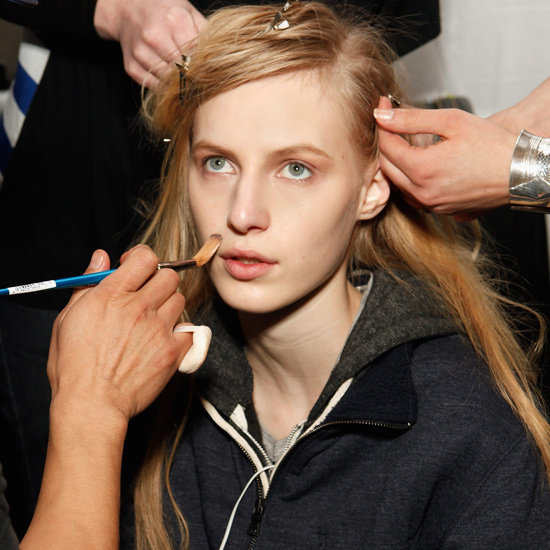 """It's an Edun girl, but with a fresh, easy, punk twist to her — an ode  to '80s punk,"" lead makeup artist Yadim (for MAC) explained."