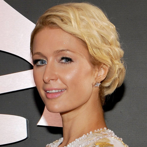 Paris Hilton's Red Carpet Hair and Makeup at the 2012 Grammys