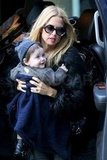 Rachel Zoe picked up her smiling son Skyler Berman.
