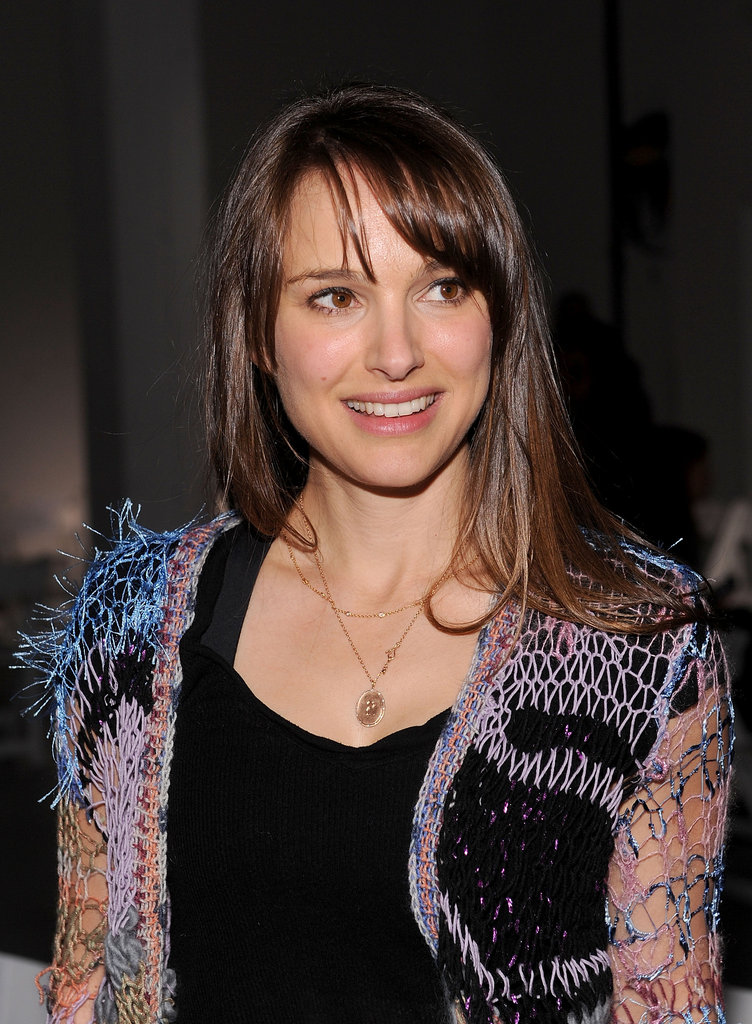 Natalie Portman front row at Rodarte.