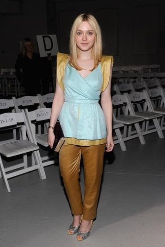 Dakota Fanning posed at Rodarte.