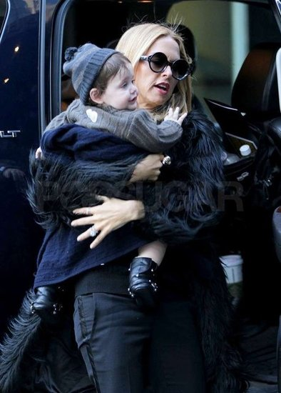 Rachel Zoe took her son Skyler Berman back to their hotel.