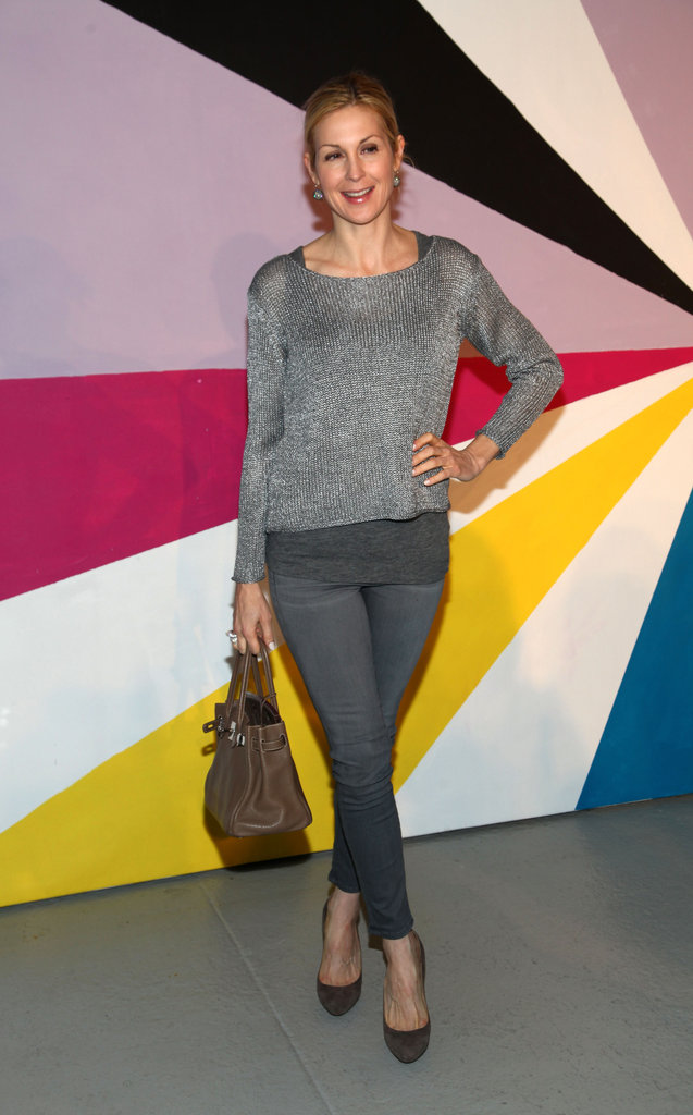 Kelly Rutherford kept it monochromatic at Alice + Olivia.