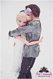 Barbie and Ken embrace. Photo by BdG Photography