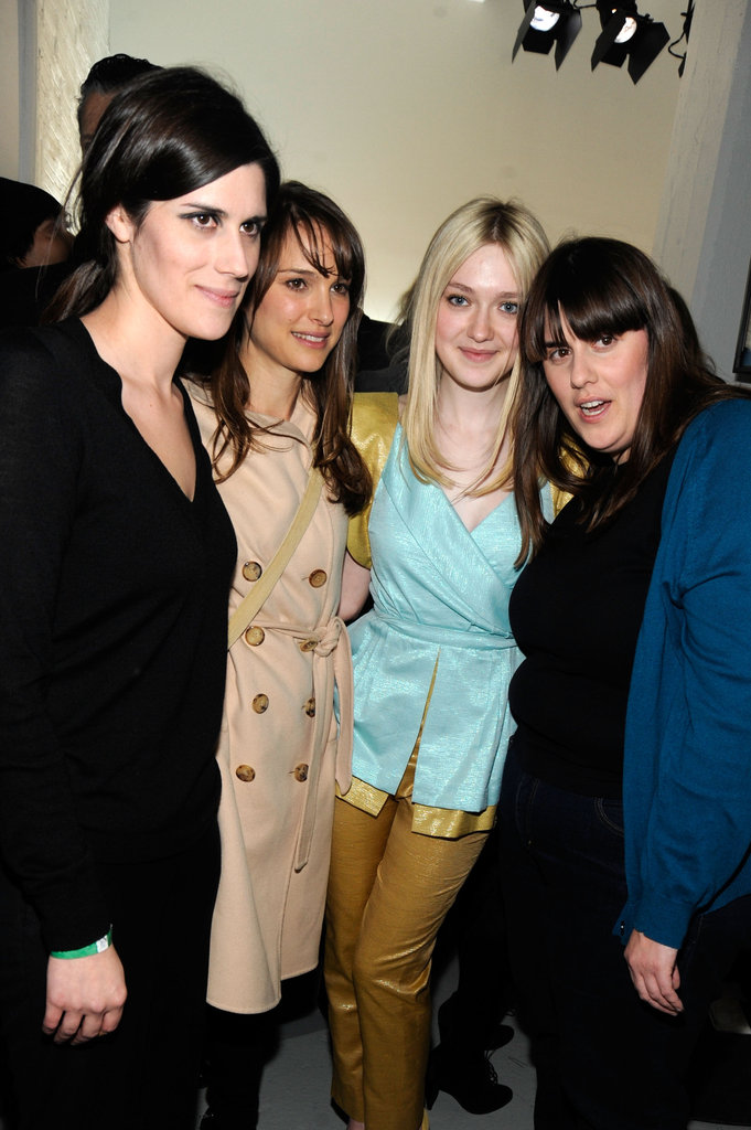 Kate Mulleavy, Natalie Portman, Dakota Fanning and Laura Mulleavy at Rodarte