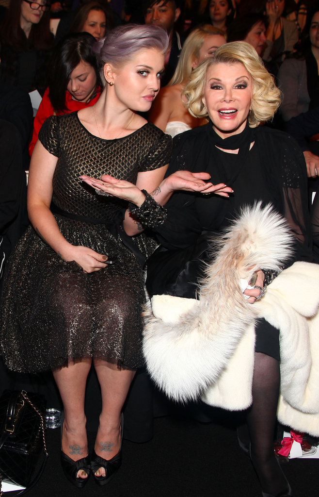 Kelly Osbourne and Joan Rivers at Badgley Mischka