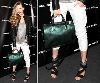 Petra Nemcova Green Bag